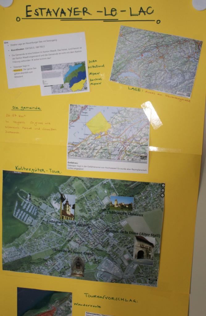 Beispiel: Collage einer 9. Klasse aus Wünnewil (FR)