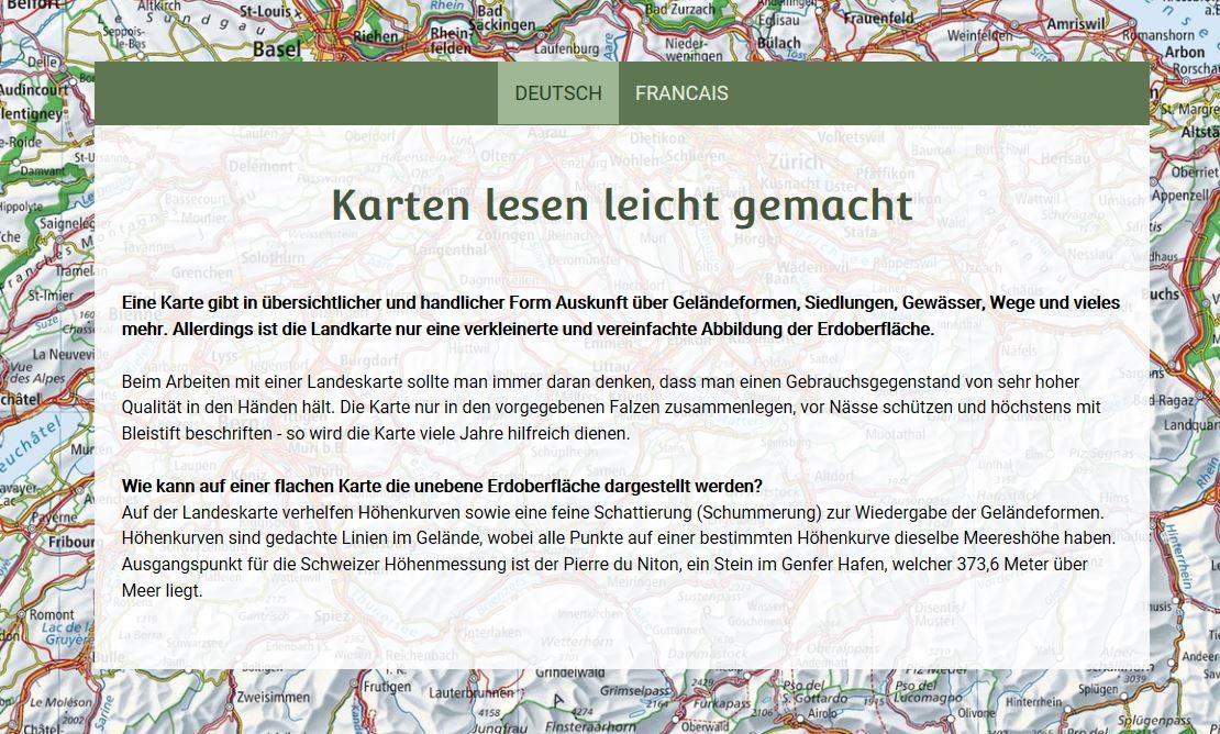 """Karten lesen leicht gemacht"""" – swisstopo-Unterrichtseinheiten zum ..."""